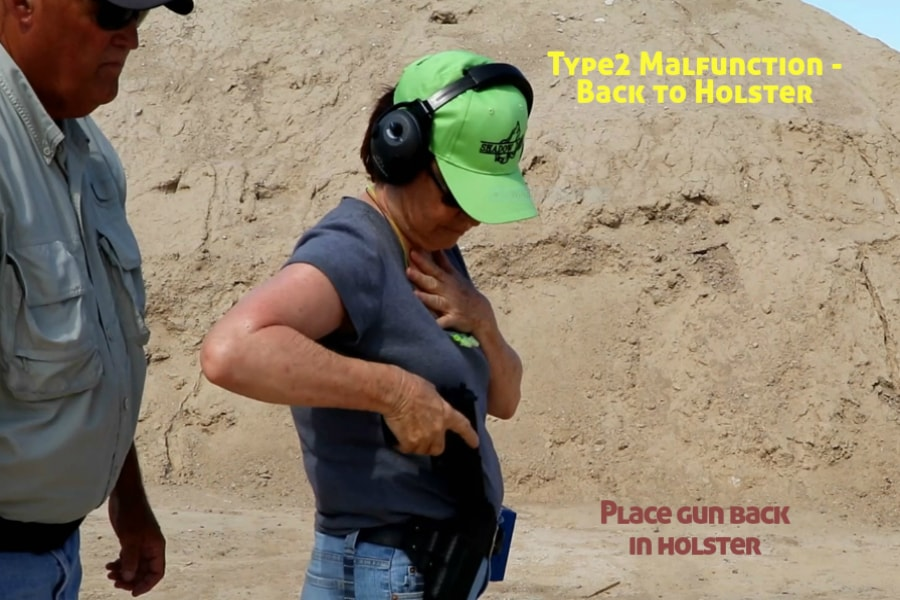 Idaho Firearms Classes Boise-Type 2 Handgun Malfunction-Back to the Holster