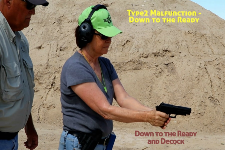Idaho Firearms Classes Boise-Type 2 Handgun Malfunction-Down to the Ready and Decock