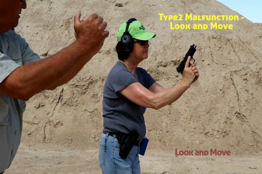Idaho Firearms Classes Boise-Type 2 Handgun Malfunction-Look and move