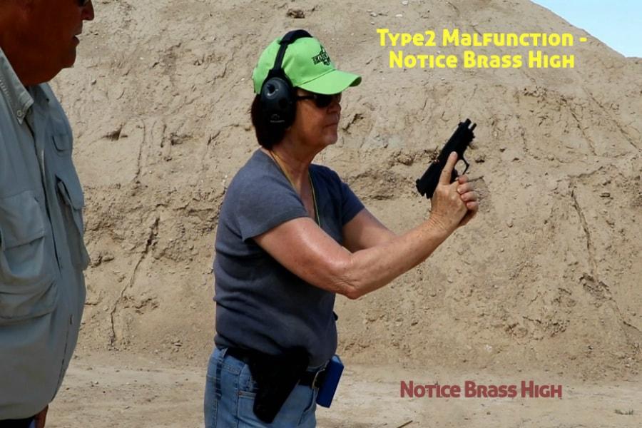 Idaho Firearms Classes Boise-Type 2 Handgun Malfunction-Notice Brass High