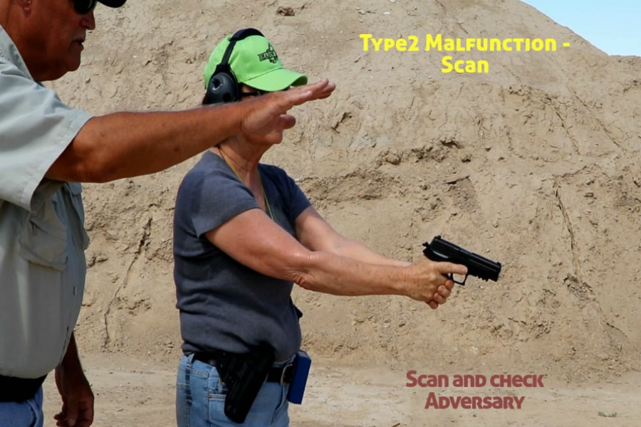 Idaho Firearms Classes Boise-Type 2 Handgun Malfunction-Scan and Check Adversary