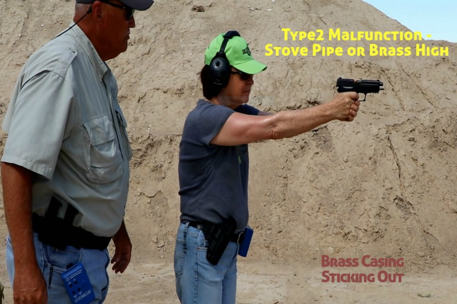 Idaho Firearms Classes Boise-Type 2 Handgun Malfunction-Stove Pipe or Brass High