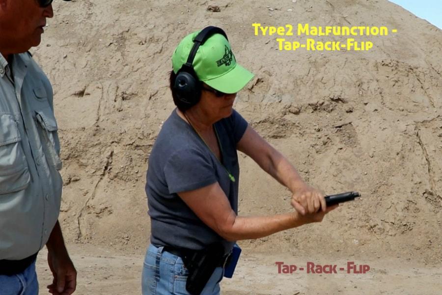 Idaho Firearms Classes Boise-Type 2 Handgun Malfunction-Tap-Rack-Flip