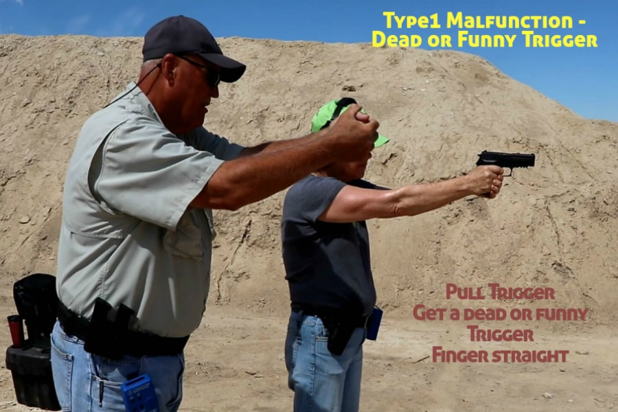 firearms training boise idaho-type 1 handgun malfunction-dead or funny trigger