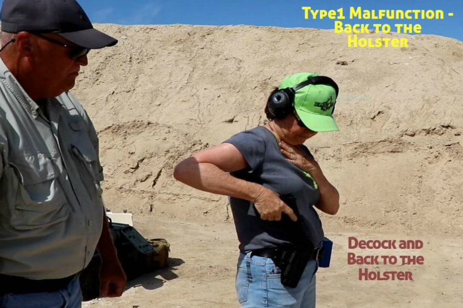 firearms training boise idaho-type 1 handgun malfunction-decock and back to the holster