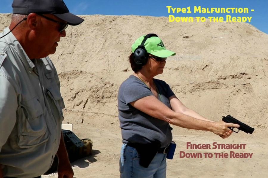 firearms training boise idaho-type 1 handgun malfunction-finger straight-down to the ready