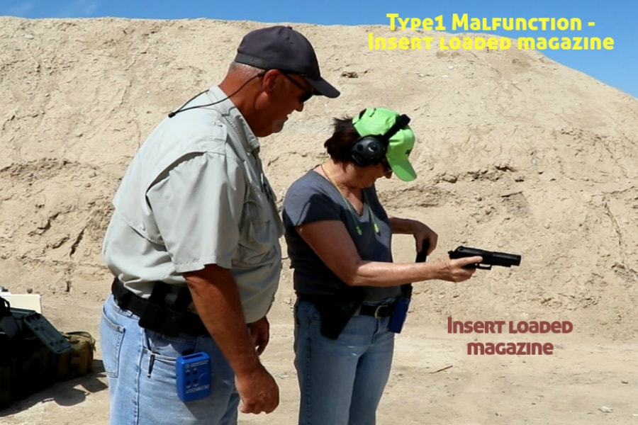 firearms training boise idaho-type 1 handgun malfunction-insert loaded magazine