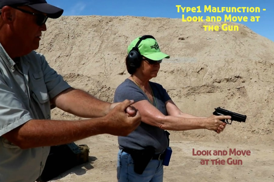 firearms training boise idaho-type 1 handgun malfunction-look and move at the gun
