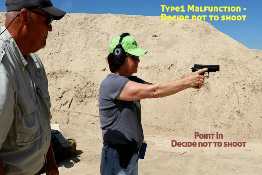 firearms training boise idaho-type 1 handgun malfunction-point in decide not to shoot