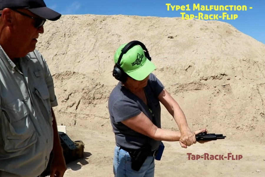 firearms training boise idaho-type 1 handgun malfunction-tap-rack-flip