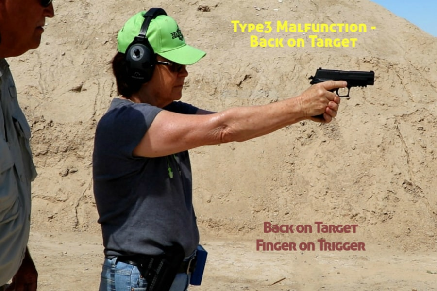 gun training classes boise id-Type 3 handgun Malfunction-back on target and trigger