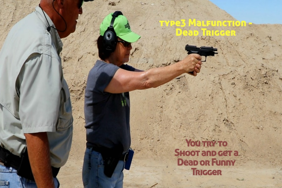 gun training classes boise id-Type 3 handgun Malfunction-dead or funny trigger