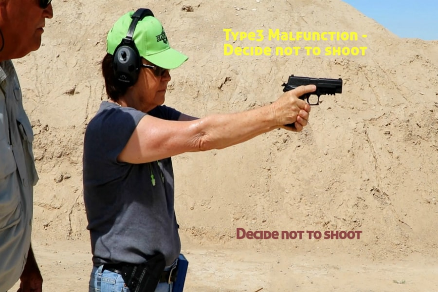 gun training classes boise id-Type 3 handgun Malfunction-decide not to shoot