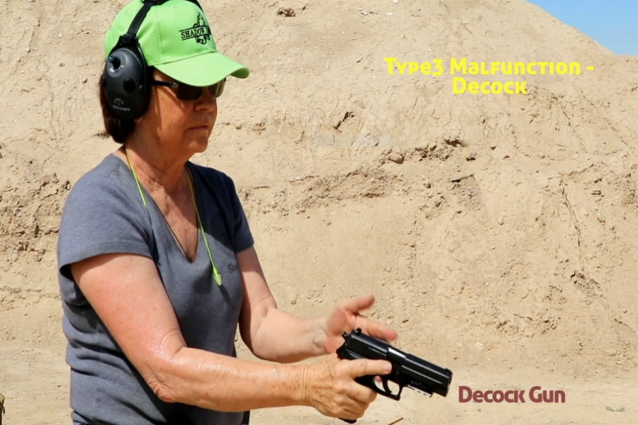 gun training classes boise id-Type 3 handgun Malfunction-decock