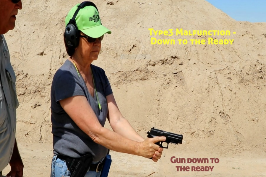 gun training classes boise id-Type 3 handgun Malfunction-down to the ready