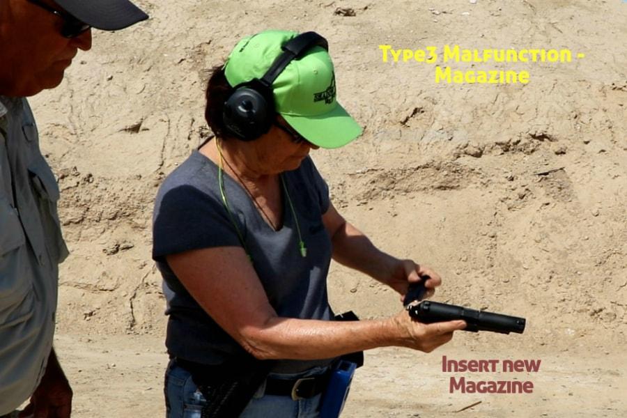 gun training classes boise id-Type 3 handgun Malfunction-insert new magazine