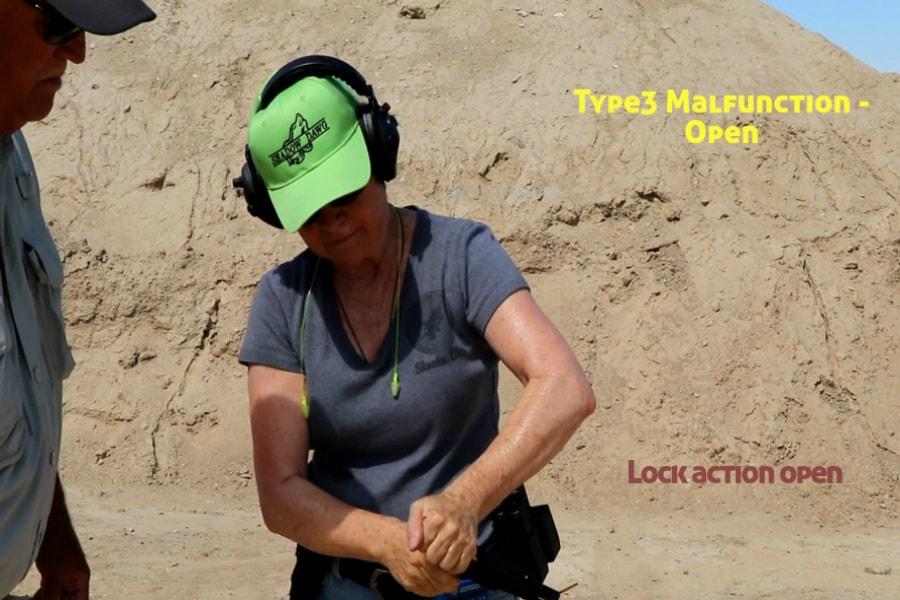 gun training classes boise id-Type 3 handgun Malfunction-lock action open