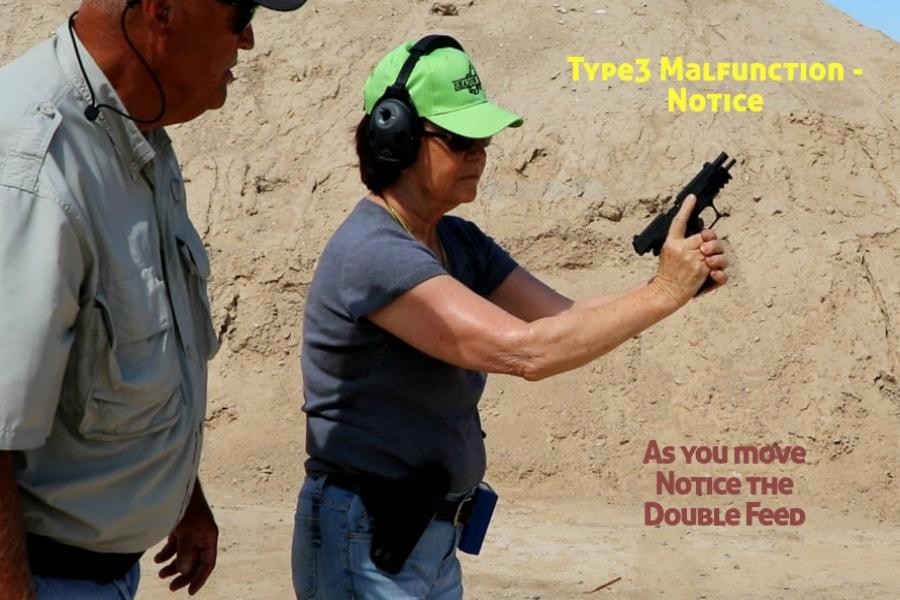 gun training classes boise id-Type 3 handgun Malfunction-notice double feed