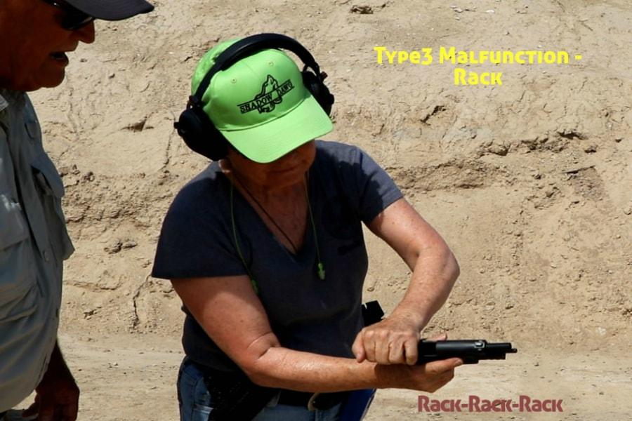 gun training classes boise id-Type 3 handgun Malfunction-rack-rack-rack