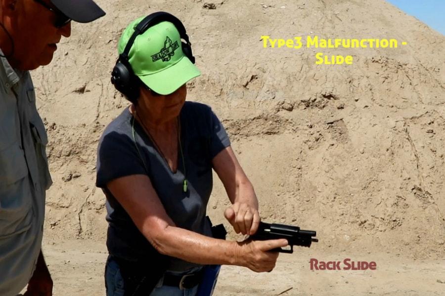 gun training classes boise id-Type 3 handgun Malfunction-rack slide